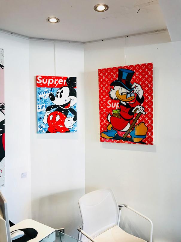 toile de l'artiste Gomor Supreme en exposition chez art life gallery