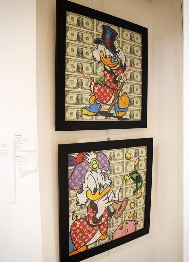 Money Charmer et Like a Boss en exposition pour le Winter Show Art Life Gallery